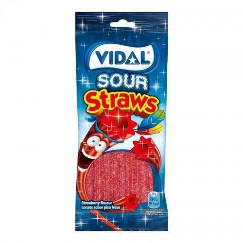 Vidal Lanzas Fresa Pica Bolsa 100 Gr. 1 Uds / 10 Uds