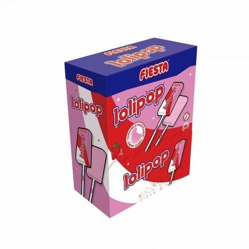 Lolipop Fresa Fiesta 100 Unidades